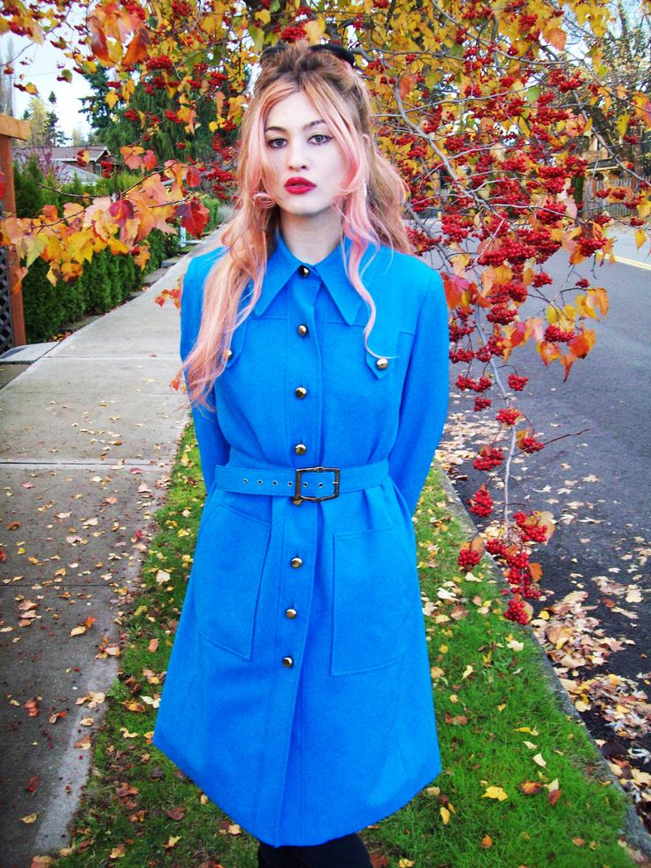 1970's Bright Blue Abercrombie and Fitch Coat by ladystrange on Etsy https://www.etsy.com/listing/116240522/1970s-bright-blue-abercrombie-and-fitch