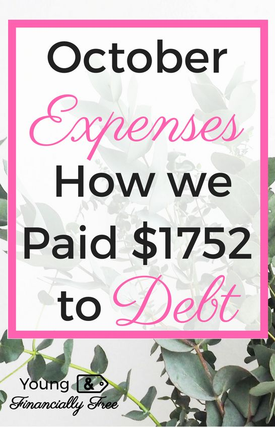 Spending Report   Budget   Paying off Debt   Expenses   Young & Financially Free