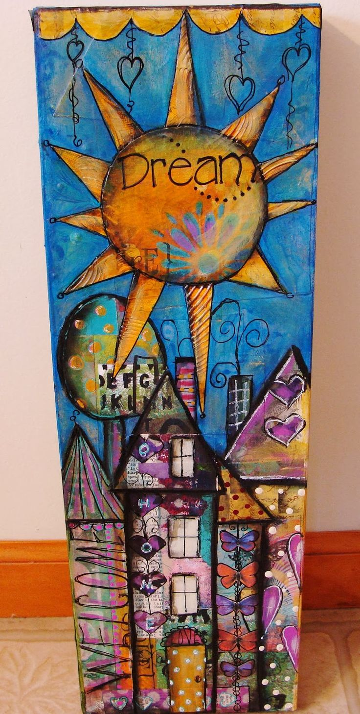 My Art Journal: Some More Collaged Art With My Painted Papers