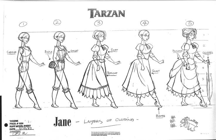 Jane model sheet