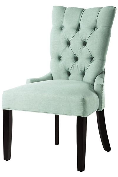 Custom Button Tufted-Back Dining Chair