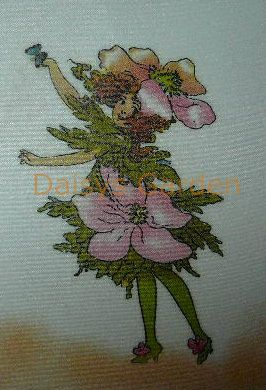 Flower Children - Windflower.  Daisys Garden Embroidery is an Online Store supplying to the hand embroiderer and crafter.