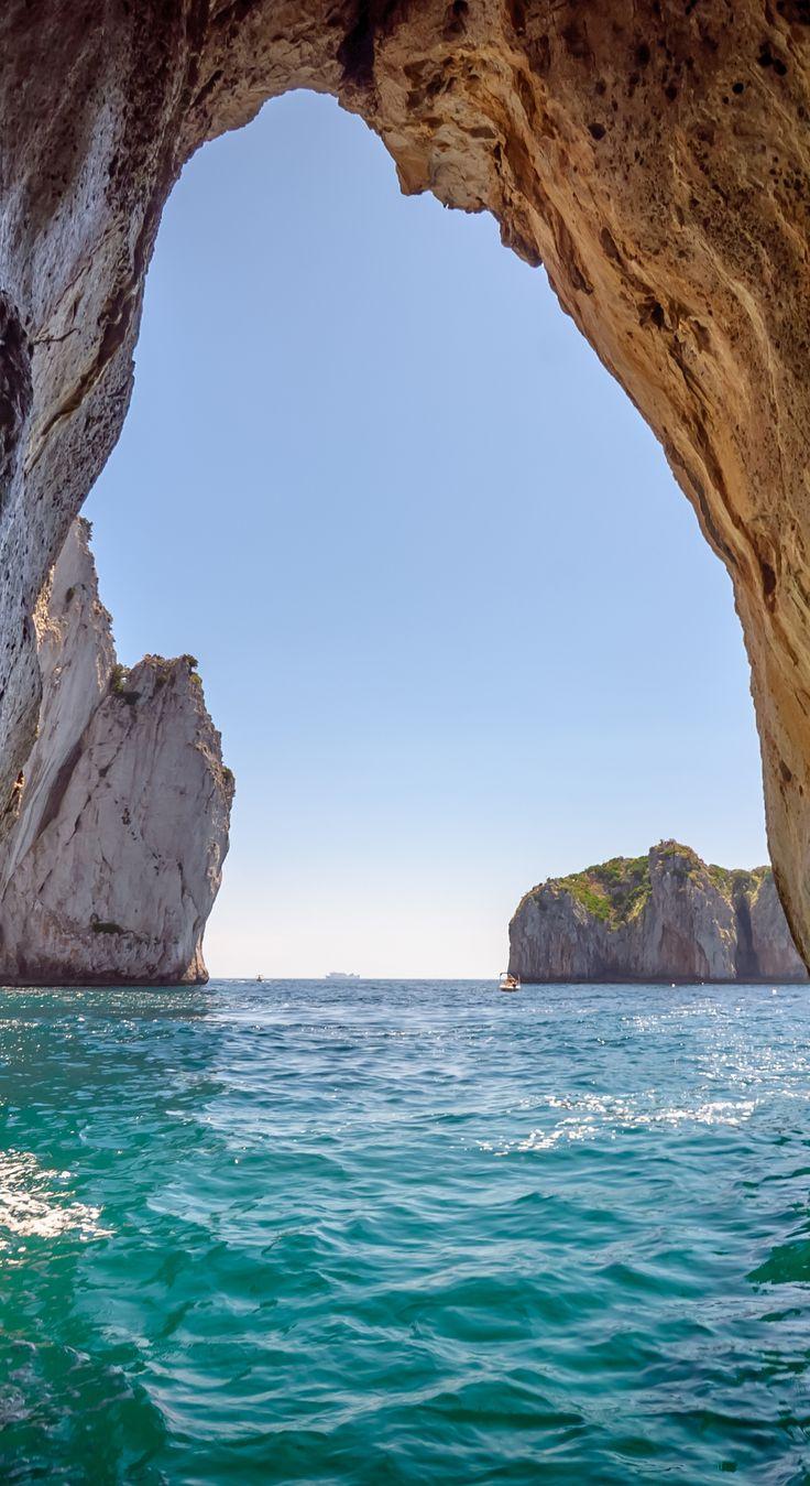 Blue Grotto Cave in Capri, Italy