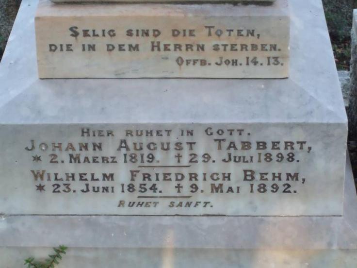 TABBERT Johann August 1819-1898 :: BEHM Wilhelm Friedrich 1854-1892