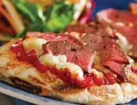 Пицца со стейком Сирлоин и голубым сыром