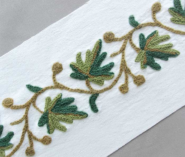 how to start embroidery chain stitch