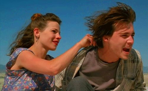 Lili Taylor and Johnny Depp in Arizona Dream (Emir Kusturica, 1993).