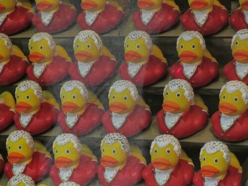 Salzburg Mozart rubber duckies