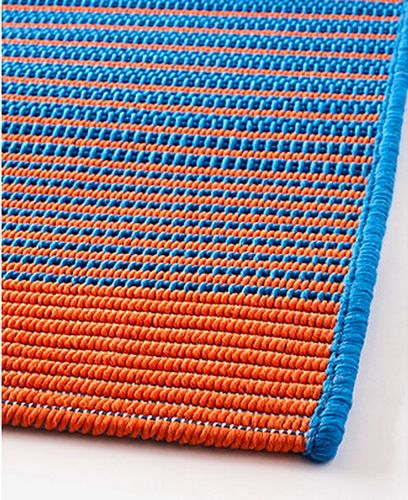 Huge blue and orange rug only $80 at Ikea: MEJLBY Rug at Ikea | Scandinavian Simplicity on eclecticnarwhal.com