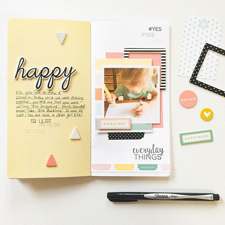 Everyday Moments Traveler's Notebook Spread by Mandy Melville   @FelicityJane