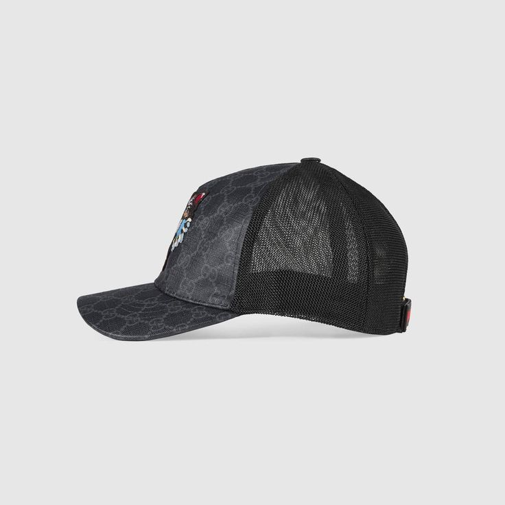 GUCCI GG Supreme baseball hat with Angry Cat - GG Supreme. #gucci #