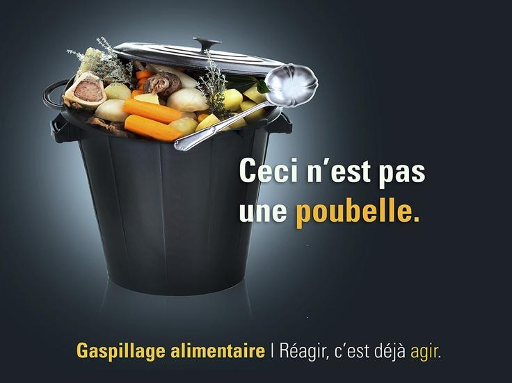 Visuel réalisé pour le concours génération pub 2013 sur le thème du gaspillage alimentaire.