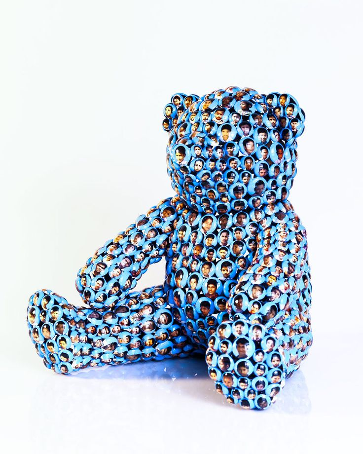 The Public House of Art | Valay Shende - Blue Teddy Bear Kids Modern Sculpture | Teddy Bear #artisforthemany