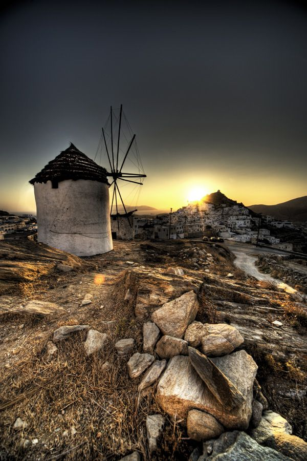 Windmill in Ios, Greece