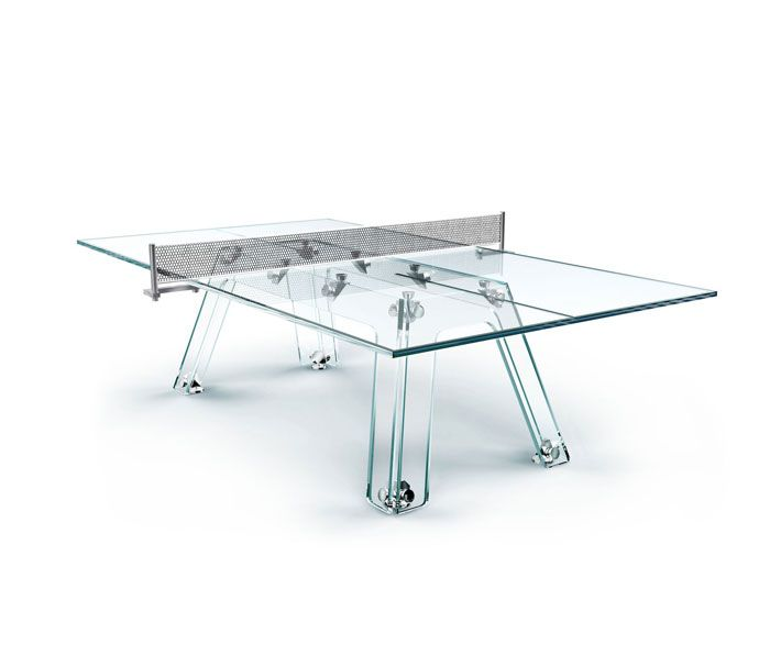 ping pong table made of glass product design pinterest. Black Bedroom Furniture Sets. Home Design Ideas
