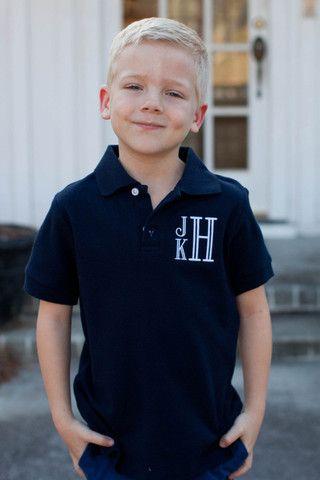 Pre Sale ST Boy's Navy Short Sleeve Polo Shirt (March)