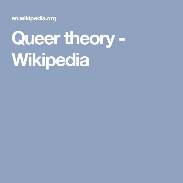 Queer theory - Wikipedia