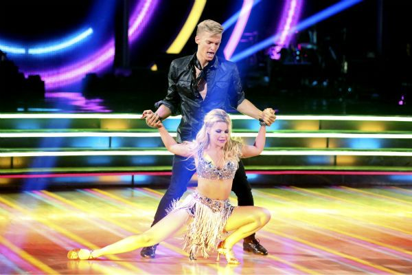 Cody Simpson and partner Witney Carson dance the Cha Cha Cha on week 1 of ABC's 'Dancing With The Stars' on March 17, 2014. They received 22 out of 30 points from the judges.