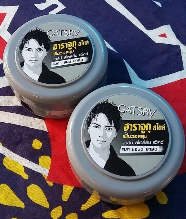 2X75g. Gatsby hair wax mat & hard Japan Harajuku style grey color #Gatsby