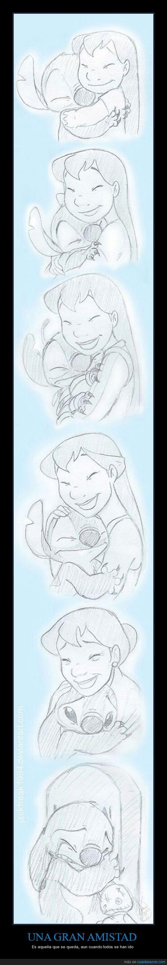 Lilo y Stitch crecen juntos - Es aquella que se queda, aun cuando todos se han ido