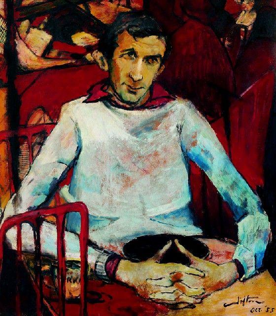 Clifton Pugh ~ Portrait of Georges Mora, 1955