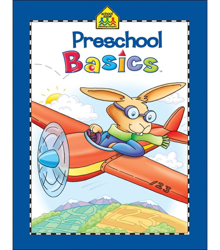 School Zone Preschool Workbooks 32 Pages-Preschool Basics