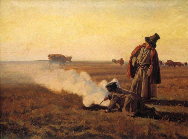 Józef Chełmoński - Jesień. Dymy - 1897