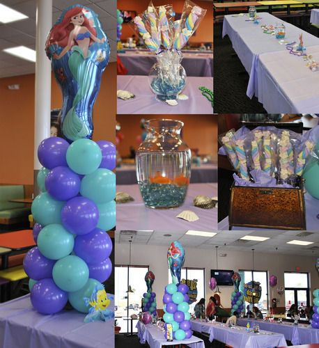 206 best images about ariel the little mermaid party for Ariel birthday party decoration ideas
