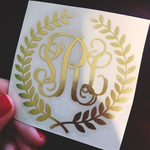 A beautiful monogram decal to add to anything from laptops, candles or gifts to a loved one! This decal comes in two font choices, circle and vine.