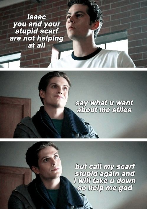teen wolf | oh Isaac and his scarf *facepalm*