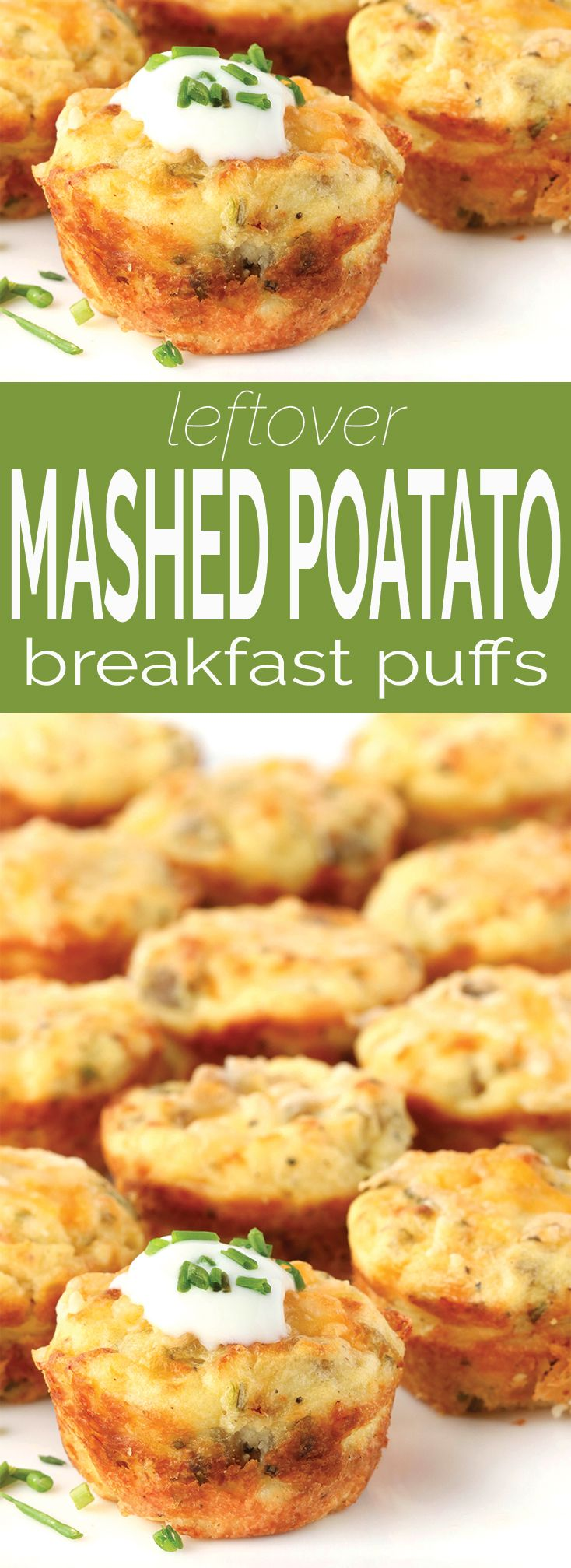 Left over mashed potatoes? Make these crispy, creamy, cheesy leftover mashed potato puffs for a quick grab n' go breakfast option. via @Simply Sissom