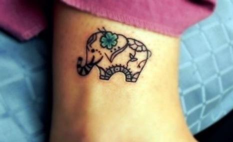 Small elephant tattoo, would love it on my wrist!