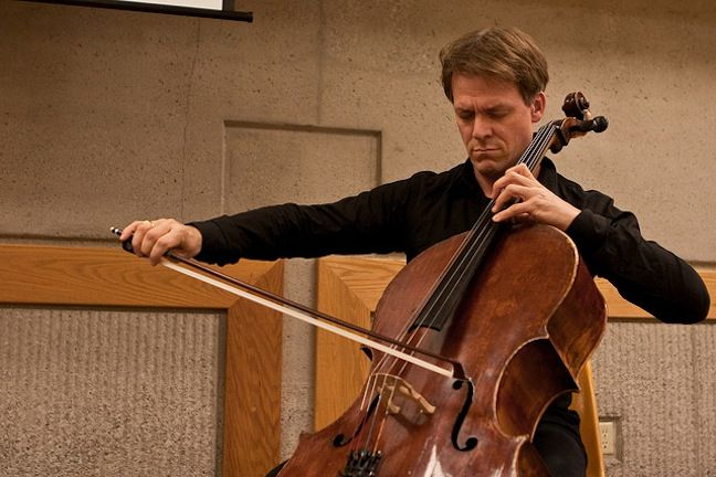 Alban Gerhardt rehearsing - and one of my favorite cellists