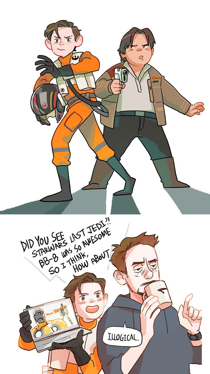 Peter and Ned from Spiderman Homecoming<< now I'm thinking what if Tony made droids to take around to hospitals or elementary schools