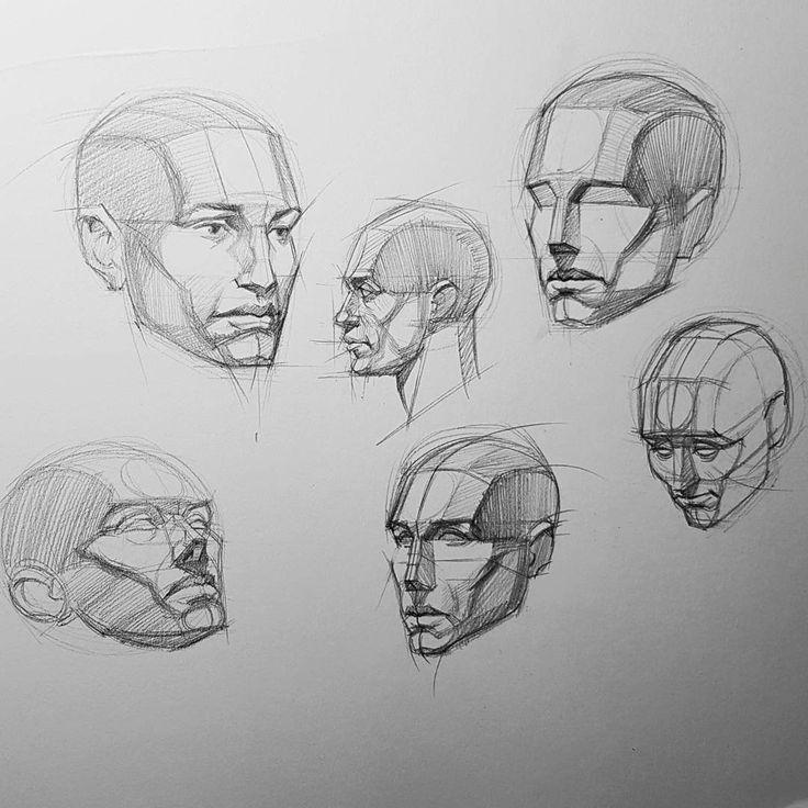 рисунок головы человека картинки что