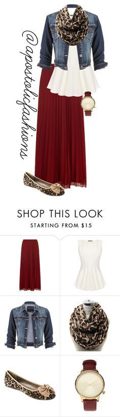 """""""Apostolic Fashions #1349"""" by apostolicfashions on Polyvore featuring Dorothy Perkins, Alexander McQueen, maurices and Komono"""
