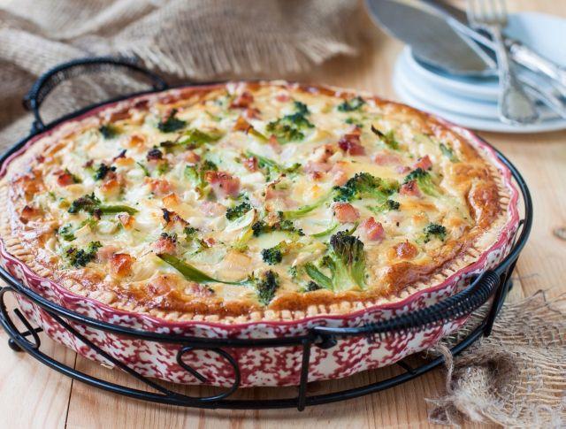 Sonkás-brokkolis pite (quiche) Recept képpel - Mindmegette.hu - Receptek