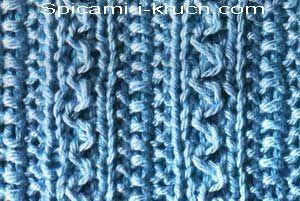 Рельефный узор спицами 9