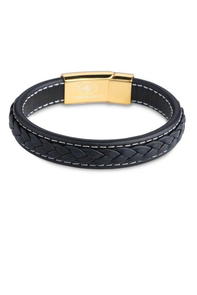 Saint Laurent Mens Magnet-Clasp Leather Bracelet TwAidYv