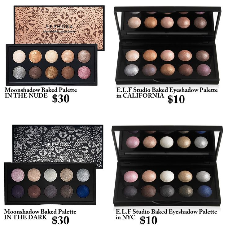 eyeshadow dupes from E.L.F =eyes lips face