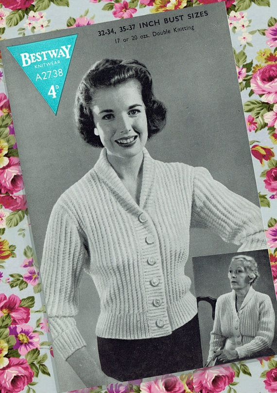 Original Vintage 1940s Womens Ladies Knitting Pattern Bestway
