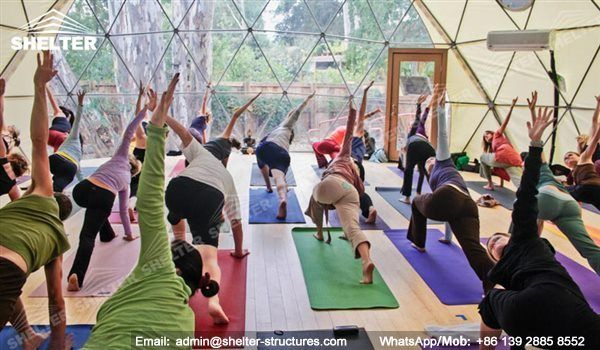 Shelter provides wide diameter range of yoga dome for any application: private yoga training in the backyard, outdoor yoga lesson in gym center.