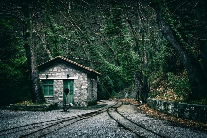 An old train station