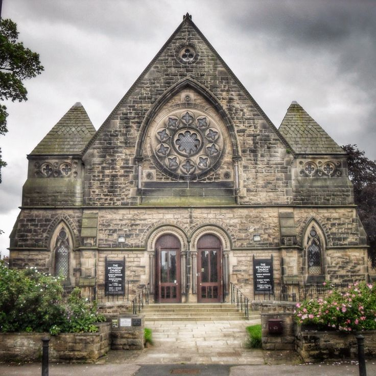 Methodist Church, Burley-in-Wharfedale, Yorkshire. Built in 1868 by eminent Bradford architects Lockwood and Mawson (they designed Bradford Town Hall).