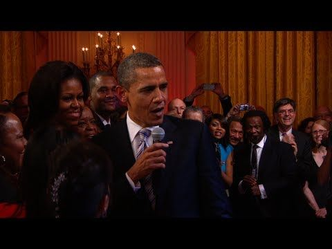 Obama Rapping........................ just kidding
