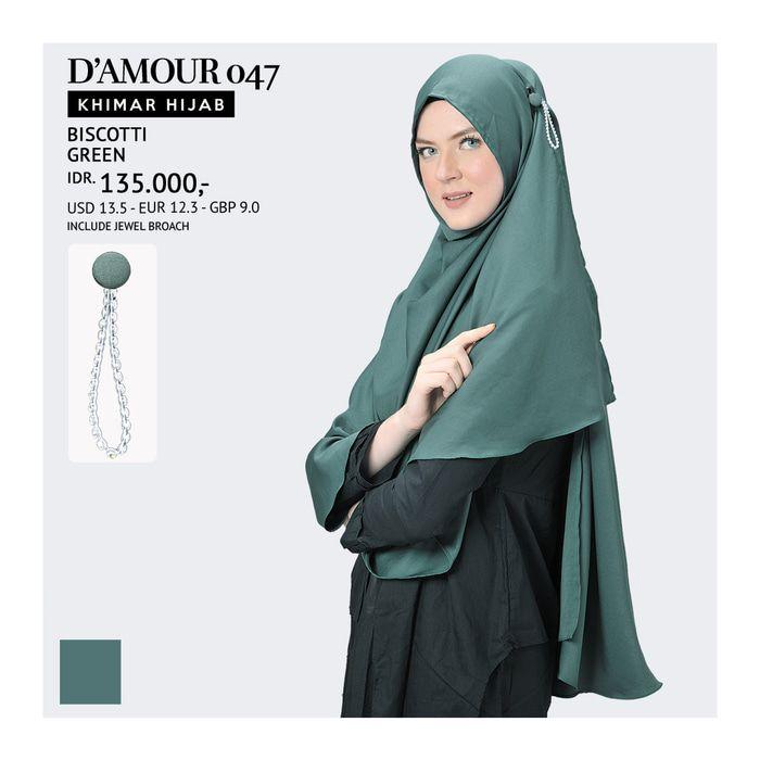 Khimar Hijab Tatuis - D'Amour 047
