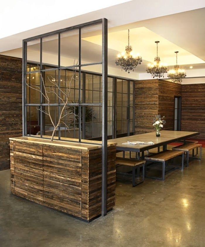 Stijlvol houten kantoor