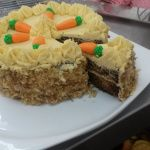 Yummy coconut covered carrot cake