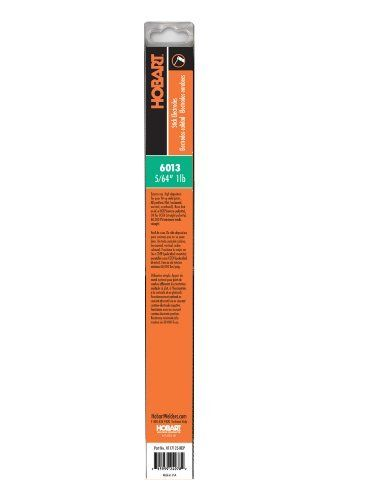 Hobart H117125-RDP 6013 Stick Welding Electrode, 5/64-Inch Size: 5/64-Inch Model: H117125-RDP. Use in all positions, on carbon steel. 60,000 PSI tensile strength. Runs on AC or DCEP (reverse) polarity or DCEN (straight) polarity.