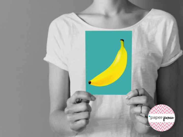 • banana card • visit our shop www.etsy.com/shop/paperpow